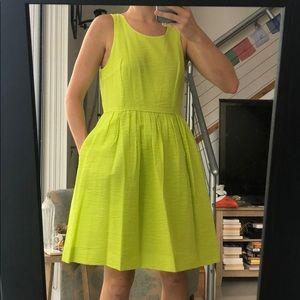 J. Crew sz 4 bright green seersucker sun dress